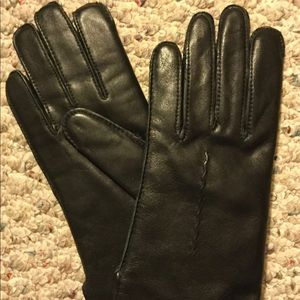 Leather Womens Thinsulate Lined Black Gloves L/XL